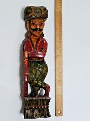 Antique Hand Carved and Painted Wood Russian Folk Art