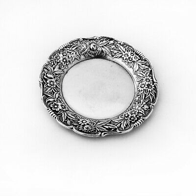 Repousse Butter Pat Sterling Silver S Kirk and Son