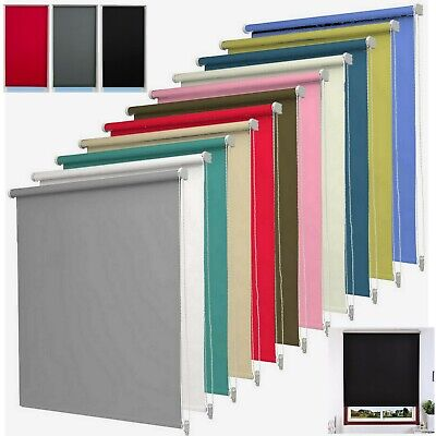 Thermal Blackout Roller Blinds Home Office Roller Window Blind Trimable Easy Fit
