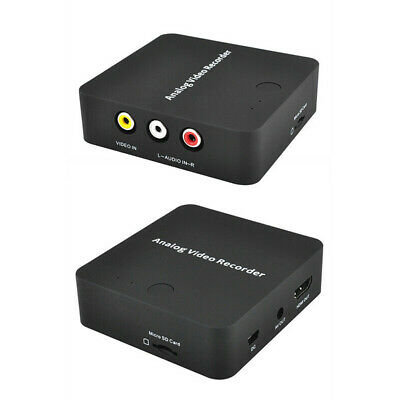 AV Audio With Cable Converter Black Video Recorder Card Box ABS HDMI Output
