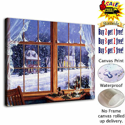 """Christmas tree HD Canvas Print Painting Home Decor Room Wall Art Picture 12""""x16"""""""