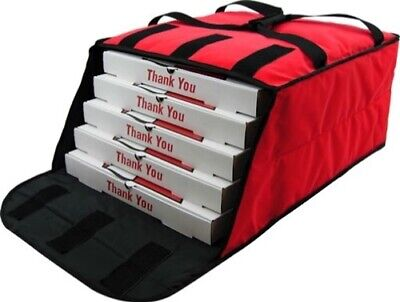 """Pizza Delivery Bag (Holds upto Five 16"""" or Four 18"""" Pizzas) Red"""