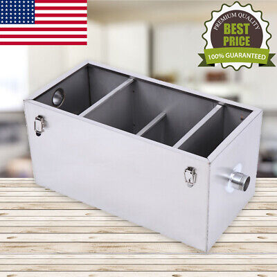 25LB Grease Trap Interceptor Commercial  Durable Kits For Kitchen Or Restaurant