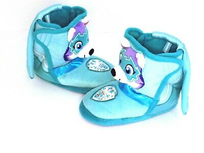 Toddler Girls Caped Blue Paw Patrol Mighty Pups Slippers Everest Boots, Size 7-8