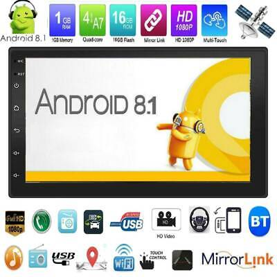 2DIN 7in Android 8.1 Car Stereo MP5 Player GPS WiFi BT USB AUX FM Radio Receiver