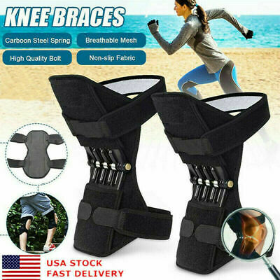Pair Power Knee Stabilizer Pad Lift Joint Support Powerful Rebound Spring Force#