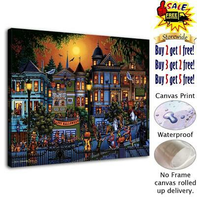 "Halloween Comic HD Canvas print Painting Home Decor Picture Wall art 12""x16"""