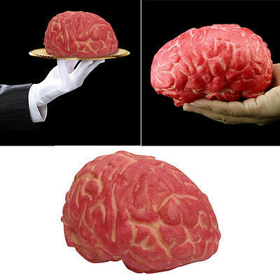 Lifelike Bloody Fake Brain Haunted House Spooky Party Halloween Props Decoration
