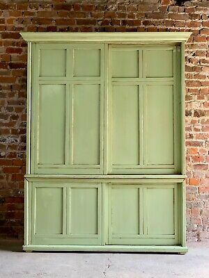 Stunning Victorian Pine Housekeeper's Cupboard Hand Painted Antique circa 1890