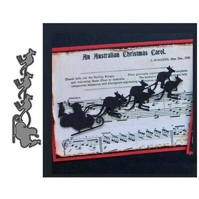 Christmas Sled Metal Cutting Dies DIY Scrapbook Emboss Paper Cards Stencil Mold*