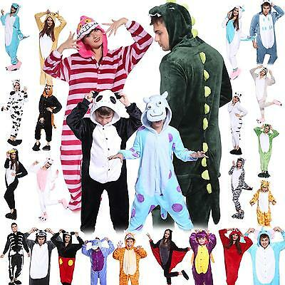 Adult Fleece Unisex Kigurumi Animal Onesie Pajamas Cosplay Costume Sleepwear.