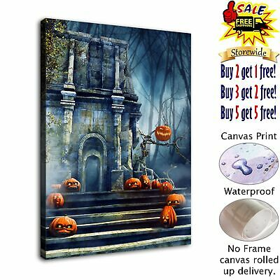 "12""x16""Halloween HD Canvas print Painting Home Decor Picture Room Wall art"