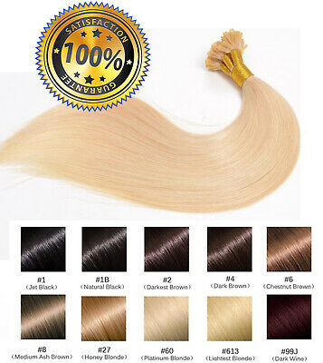 50 100 150 200 EXTENSIONS POSE A CHAUD CHEVEUX 100% NATURELS QUALITE REMY 1g 99