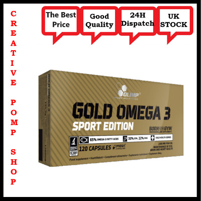 Olimp Gold Omega 3 Sport Edition 30-120 caps Fish Oil 1000mg DHA EPA Fatty Acids