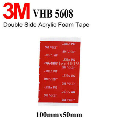 3M VHB 5608A 100 x 50mm Acrylic Foam Double Sided Attachment Extremely Strong