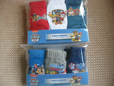 Pack of 3 Boys Cotton Pants/Briefs, Paw Patrol, ages 1.5-2, 2-3, 3-4, 4-5