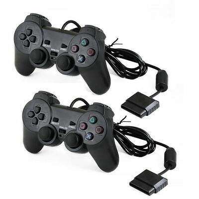 Wired/ Wireless Black Dual Shock Controller for PS2 PlayStation Joy pad Game pad