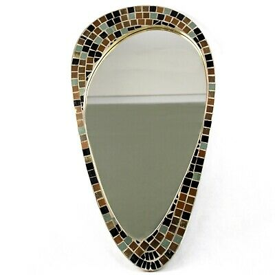 Vintage Wall Mirror - Signed Knitter Duro Brevete - Mosaic - mid Century