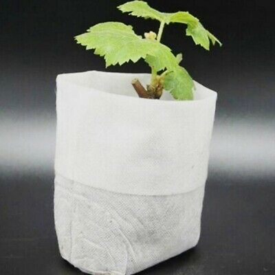 100Pcs Nursery Plant Grow Pot Seed-Raising Bags Non-woven Fabrics Garden Supply