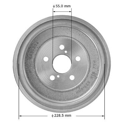 Rear Brake Drums /& Shoes OE Replacement For Toyota Corolla 2009-2016