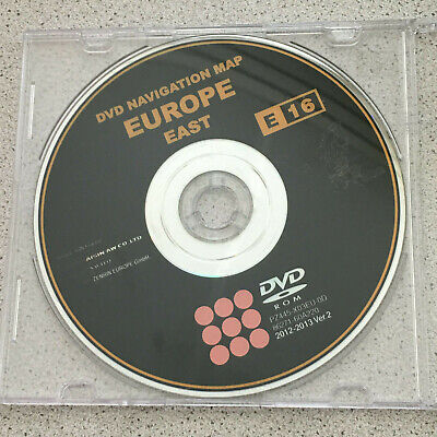 2012/13 Toyota & Lexus Sat Navi Dvd Disc Map Update East Europe E16 Ver.2