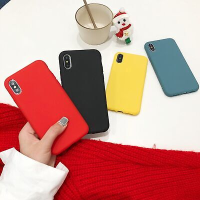Cover Case Silicone Candy Color For iPhone XS MAX XR X 7 8 6s Plus Solid Phone
