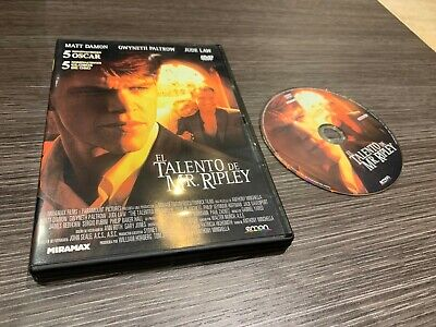 The Talent of Mr Ripley DVD Matt Damon Gwyneth Paltrow Jude Law
