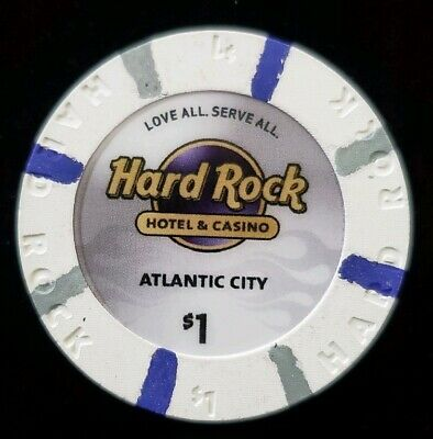 $1 Chip Hard Rock Hotel & Casino Atlantic City Chip Blackjack Poker Craps NJ