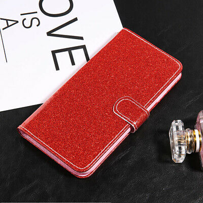 Glitter Luxury Leather Magnetic Flip Card Wallet Cover Case For iPhone X XR 7 8
