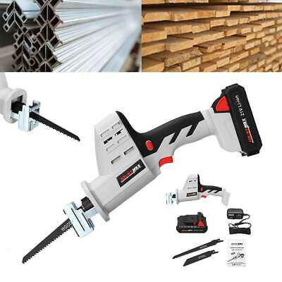21V Portable Cordless Reciprocating Electric Saw Kit Metal Wood Angle Cutting