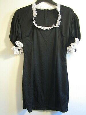 French Maid Dress Cosplay Sissy Adult Baby Black, Size 8 M Halloween Costume