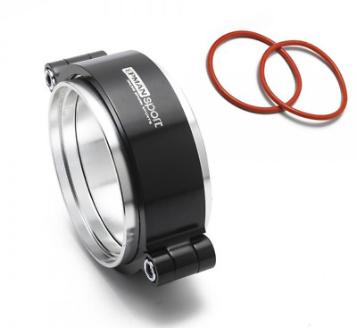 """Exhaust V-band Clamp Assembly Anodized Clamp 2.5"""" 63.5mm Intercooler Weld BLACK"""