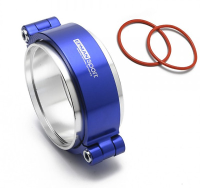 "Exhaust V-band Clamp Assembly Anodized Clamp 3"" 76mm Turbo Intercooler Weld Blue"