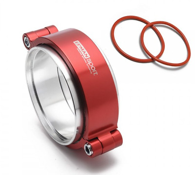 """Exhaust V-band Clamp Assembly Anodized Clamp 3"""" 76mm Turbo Intercooler Weld RED"""