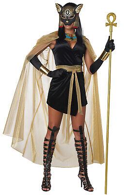 Brand New Feline Goddess Bastet Egyptian Black Cat Adult Costume