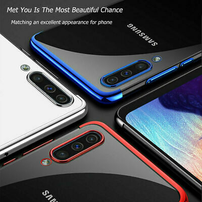 CLEAR Case For Samsung Galaxy A70 A50 A40 A20e Cover Shockproof Silicone Gel TPU