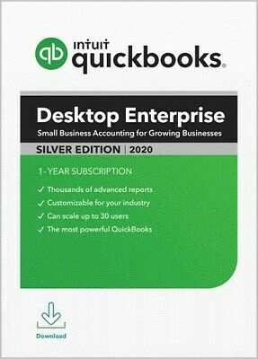 QuickBooks Enterprise 2020 Silver Edition -Monthly- 1 user