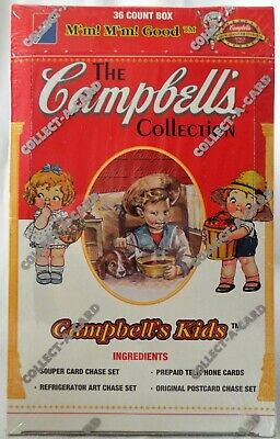 CAMPBELL'S KIDS COLLECTION 1995 Collect-a-Card Sealed Box  36 Trading Card Packs