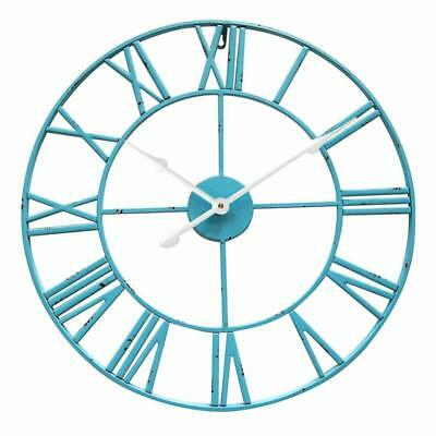 Antic by Casa Chic - Large Metal Wall Clock with Silent QUARTZ Mechanism - 60 cm