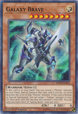 x3 Galaxy Brave - MP19-EN162 - Common - 1st Edition Yu-Gi-Oh! M/NM