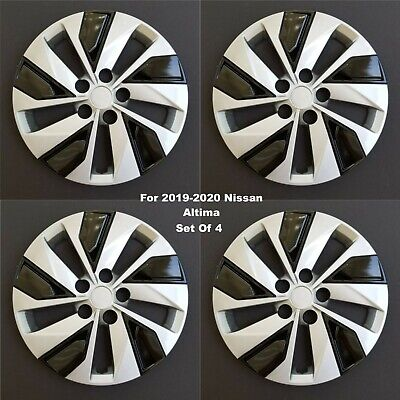 """New Wheel Covers Hubcaps Fits 2019-2020 Nissan Altima 16"""" Silver Black Set Of 4"""