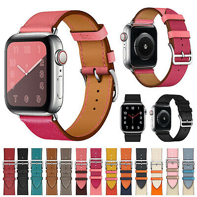 Genuine Leather Wrist iWatch Strap For Apple Watch Band 38mm 42mm Series 5 4 3 2
