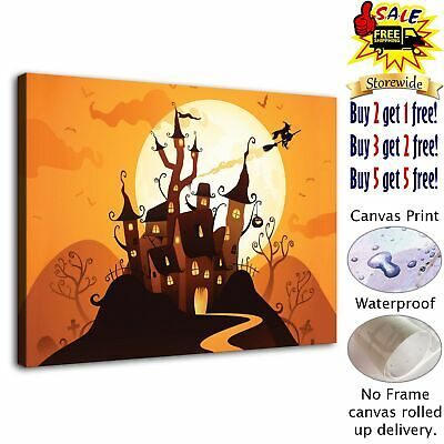 "Halloween HD Canvas print Painting Home Decor Picture Room Wall art  12""x16"""