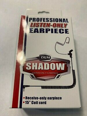 SHADOW Listen-Only Earpiece with Coil Cord