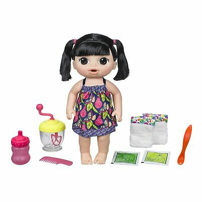 Baby Alive Sweet Spoonfuls Black Straight Hair Baby Girl Doll