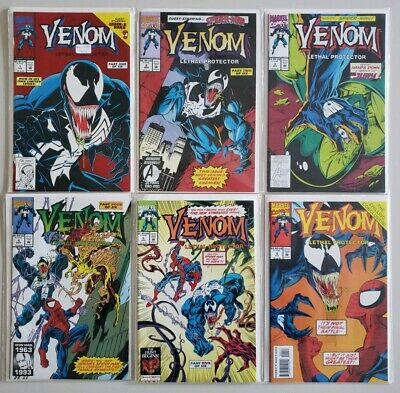 Venom Lethal Protector #'s 1 2 3 4 5 6 Complete Set Series Run Lot 1-6 VF/NM