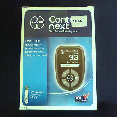 NIB Bayer Contour Next Blood Glucose Monitoring System
