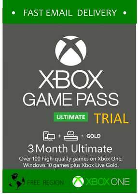 Game Pass Ultimate 3 months Xbox One / PC - Fast delivery - *READ TERMS*