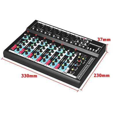 1 Set Mini Size High Quality 7 Channel Audio Mixing Console For Wedding Party DJ