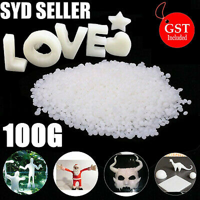White Polymorph Mouldable Plastic Pellets Thermoplastic Plastimake PCL NonToxic